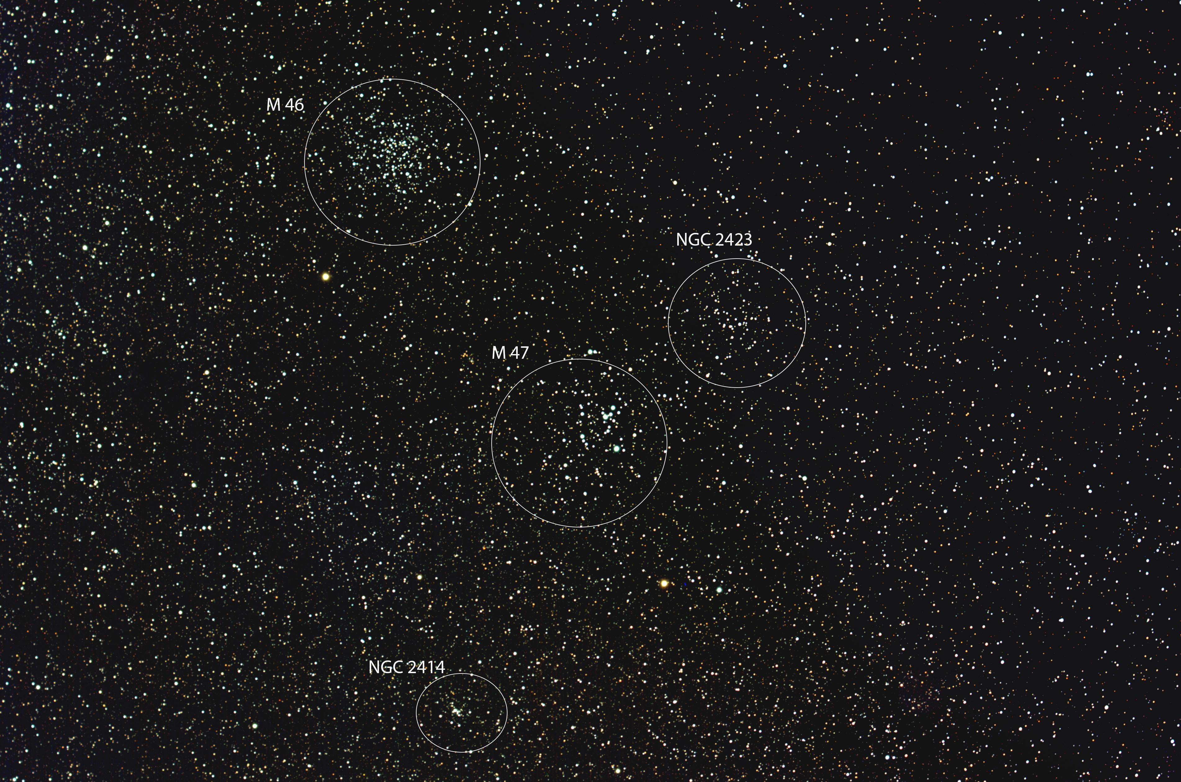 M46 und M47 beschriftet