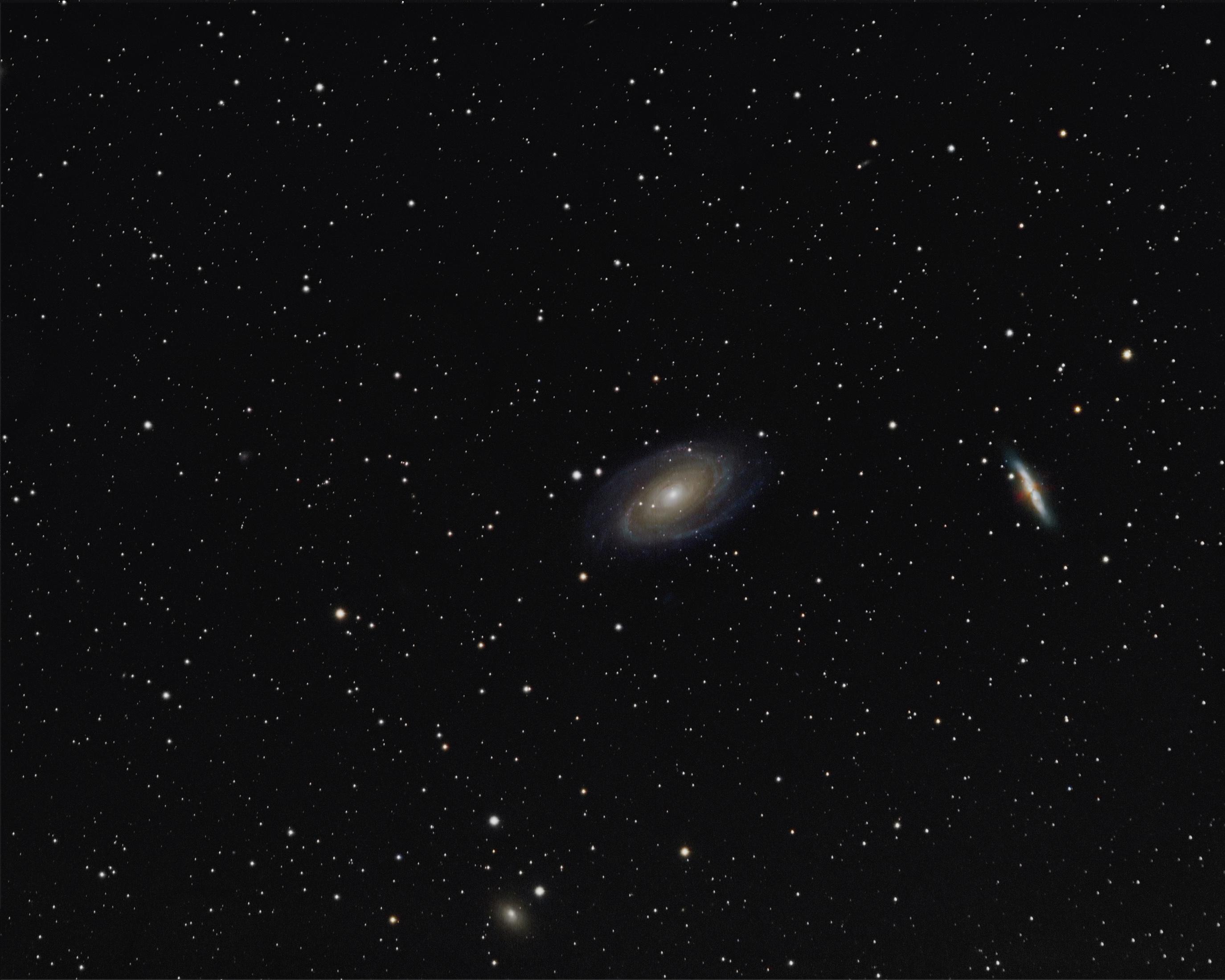 M81, M82 und NGC3077