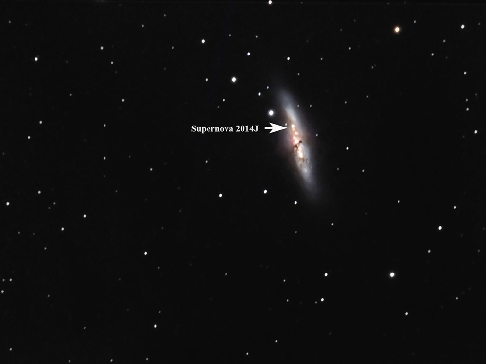 M 82 und SN 2014J