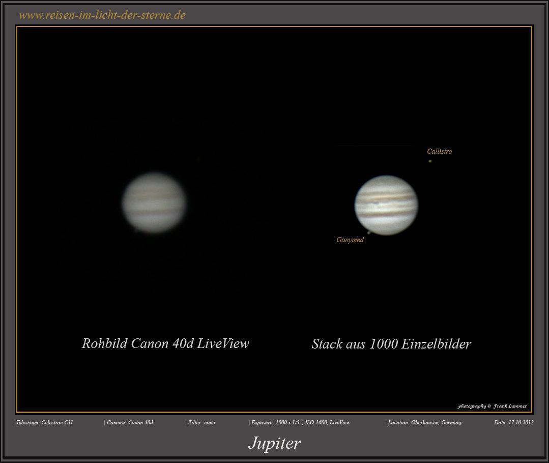 Jupiter mit der DSLR