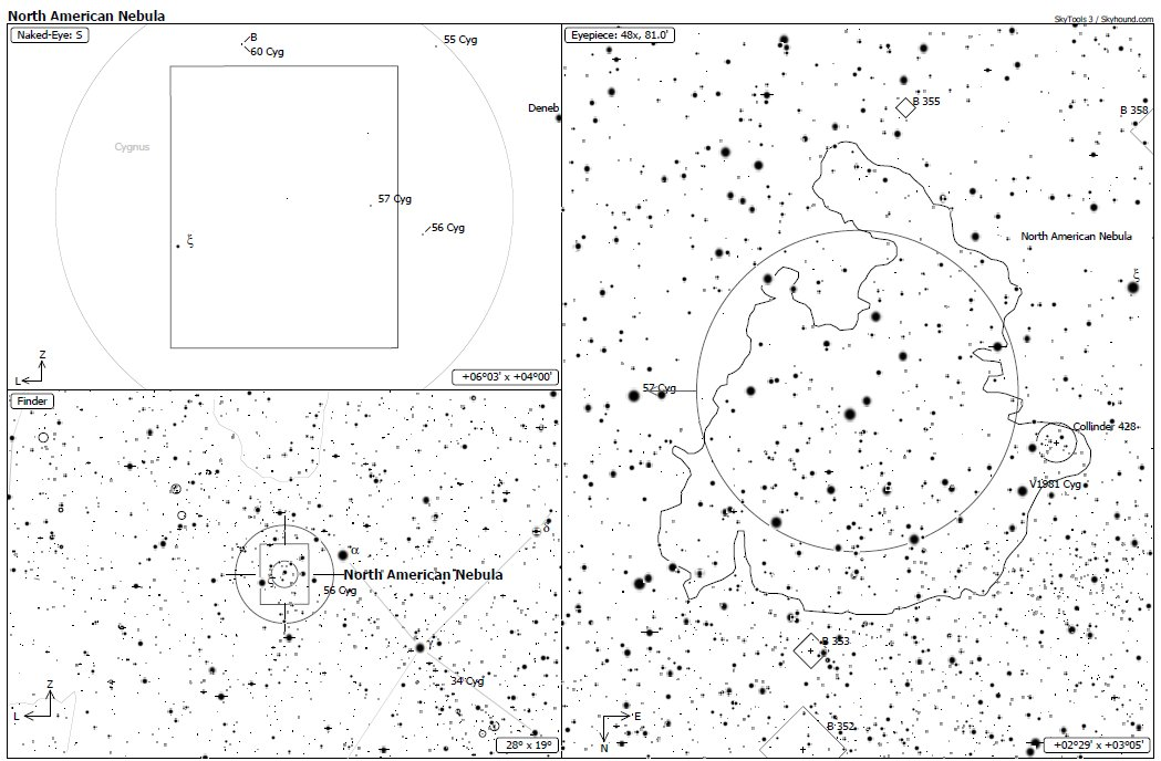 Aufsuchkarte NGC 7000
