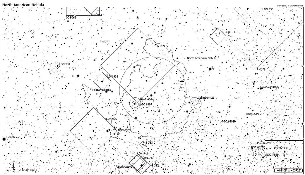 NGC7000 Chart